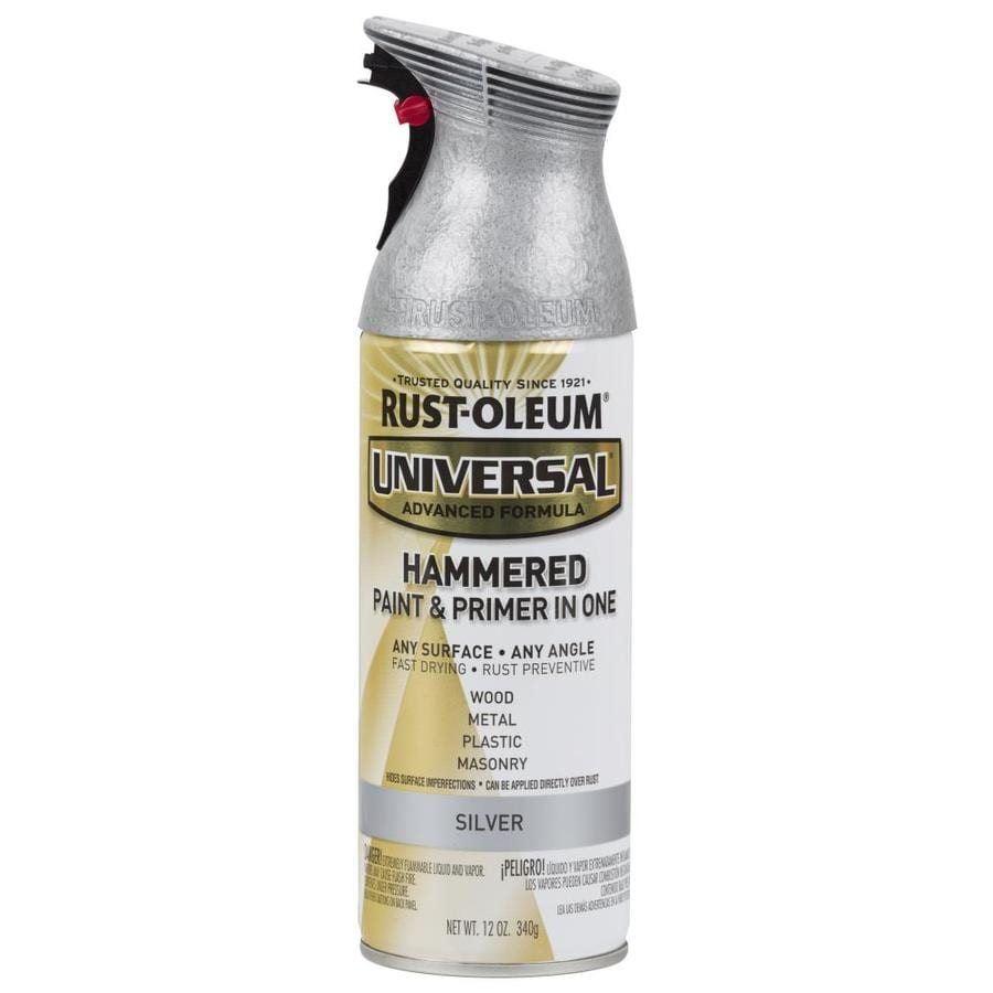Rust-Oleum Universal Silver Hammered Rust Resistant Enamel Spray Paint (Actual Net Contents: 12-oz)