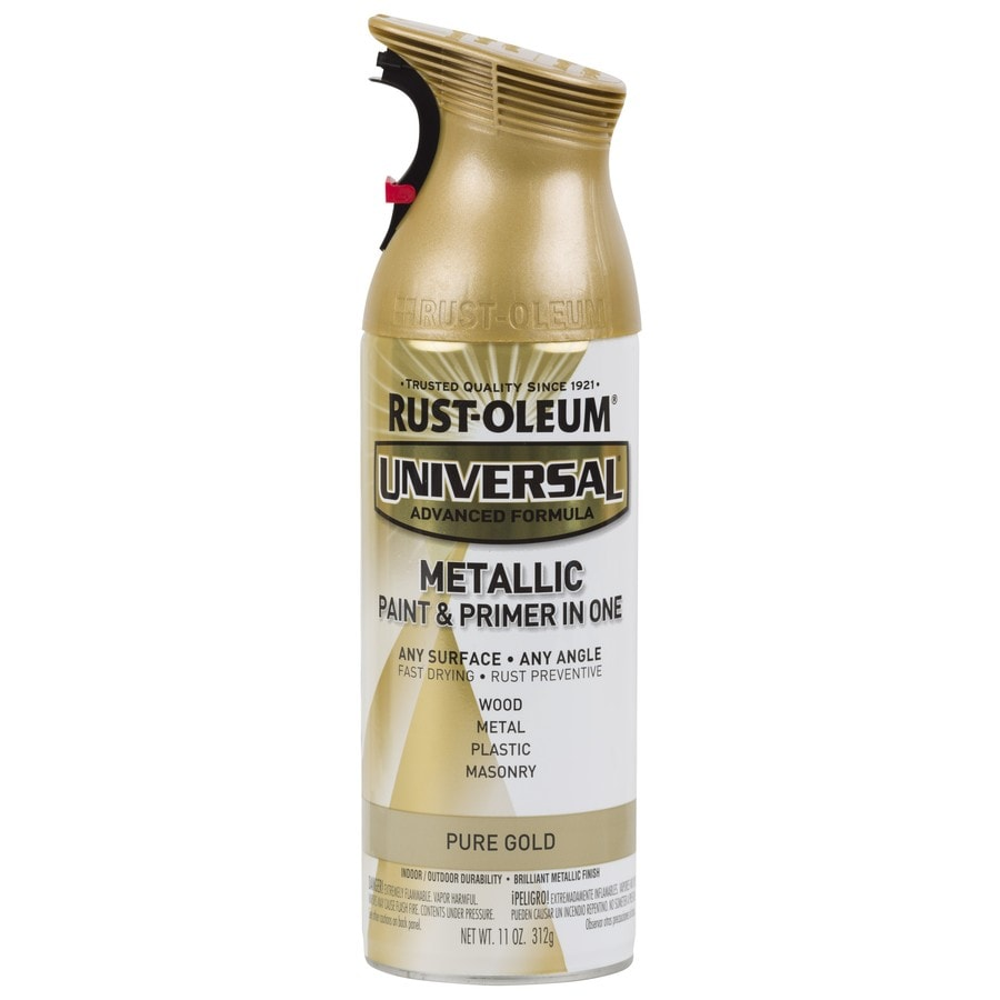 Shop Rust Oleum Universal Pure Gold Metallic Rust Resistant Enamel Spray Paint Actual Net