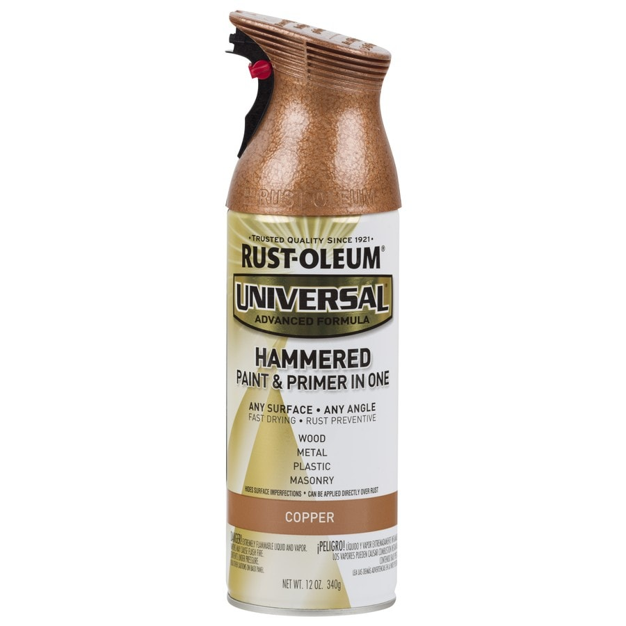 Rust-Oleum Universal Copper Hammered Rust Resistant Enamel Spray Paint (Actual Net Contents: 12-oz)