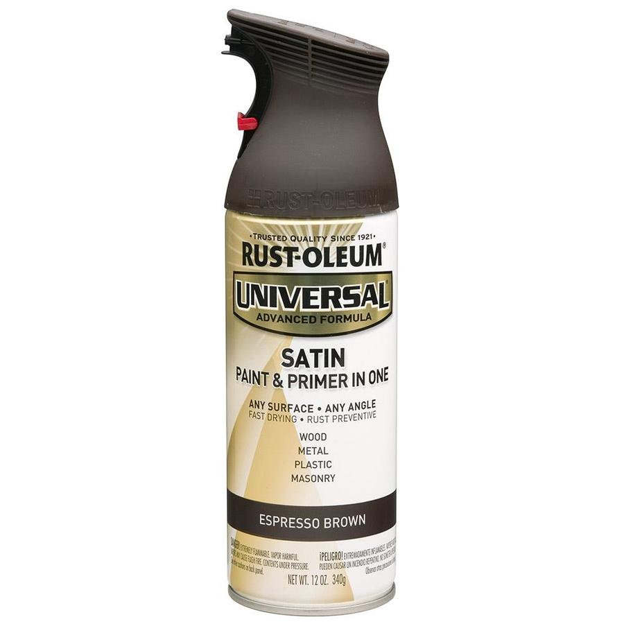 Shop Rust Oleum Universal Espresso Brown Spray Paint Actual Net Contents 12 Oz At