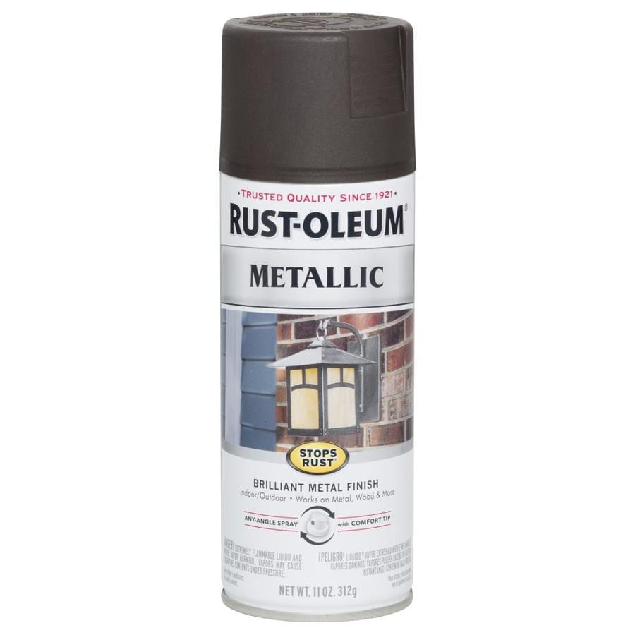 Shop Rust Oleum Stops Rust Oil Rubbed Bronze Metallic Enamel Spray Paint Actual Net Contents