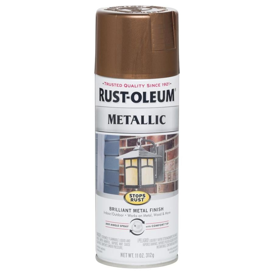 Shop rust oleum vintage copper metallic enamel spray paint actual net contents 11 oz at Black metal spray paint