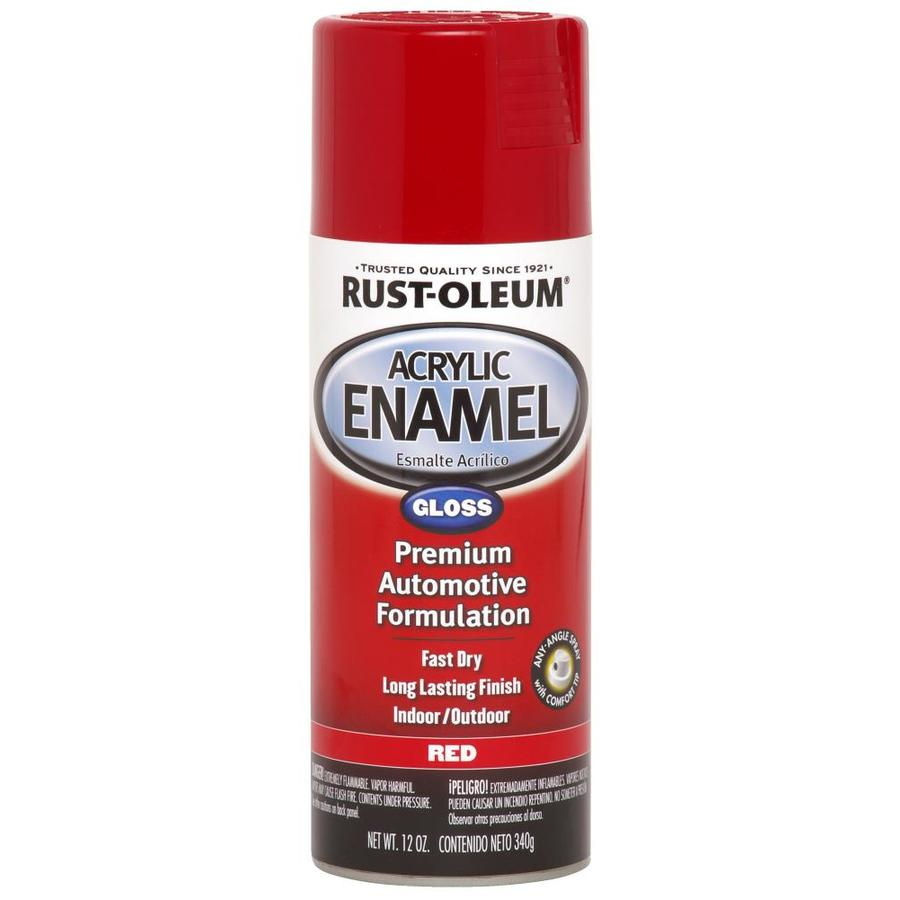 Shop Rust Oleum Automotive Red Enamel Spray Paint Actual Net Contents 12 Oz At