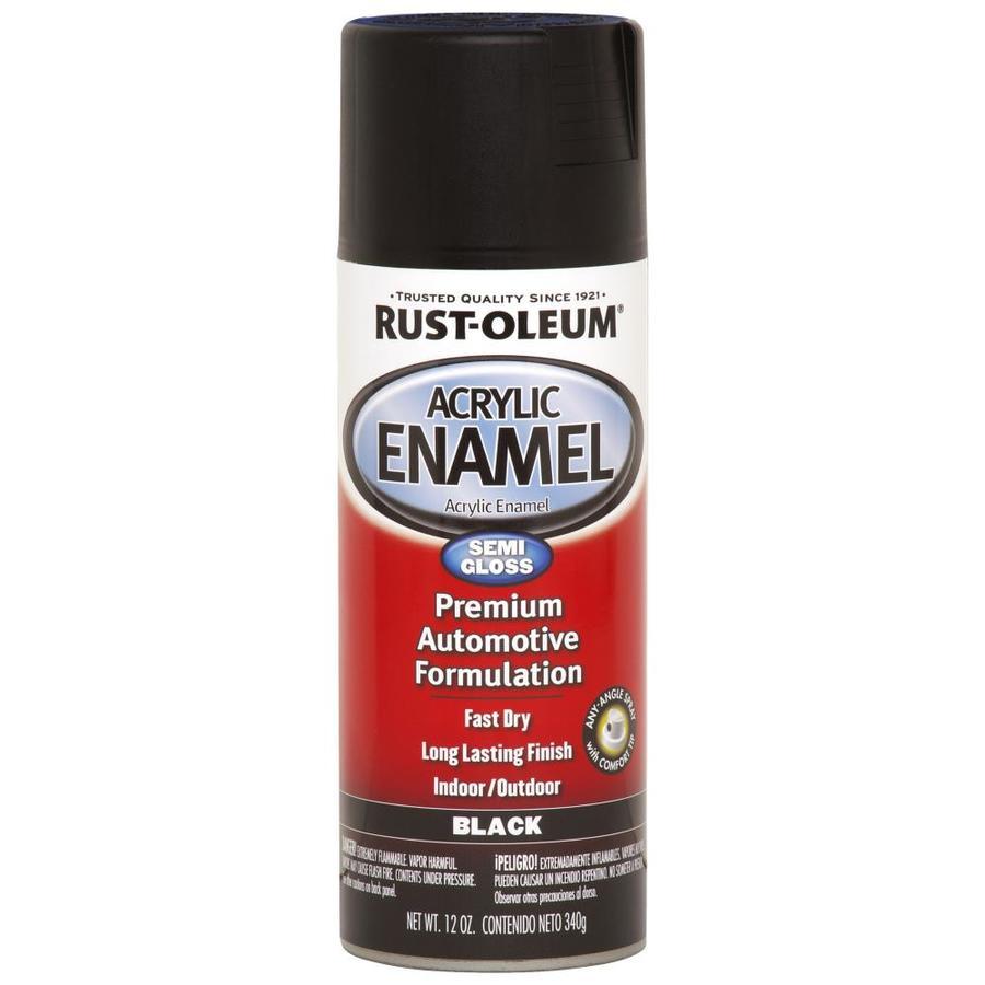 Rust-Oleum Automotive Black Fade Resistant Enamel Spray Paint (Actual Net Contents: 12 Oz.)