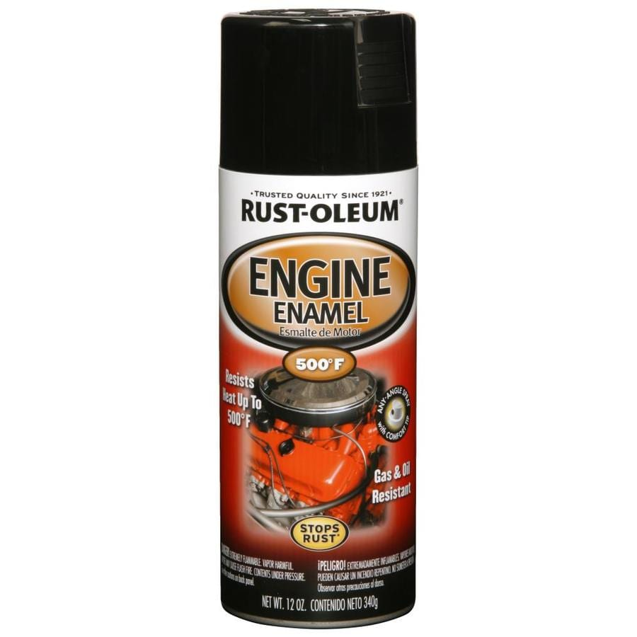 Shop Rust Oleum Automotive High Heat Black Enamel Spray Paint Actual Net Contents 12 Oz At