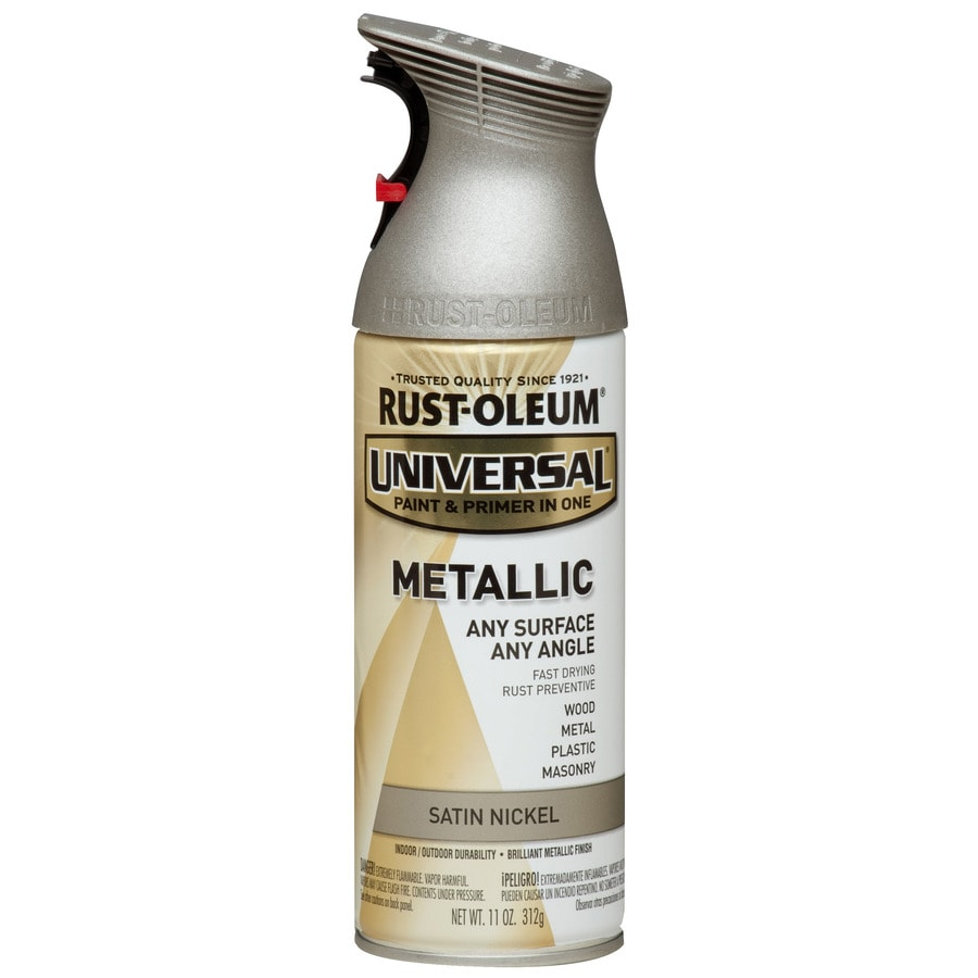 Rust Oleum Universal Satin Nickel Metallic Spray Paint And
