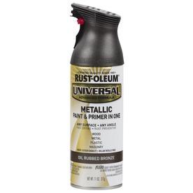 Rust Oleum Universal General Purpose Flat Oil Rubbed Bronze Metallic Spray Paint Actual Net