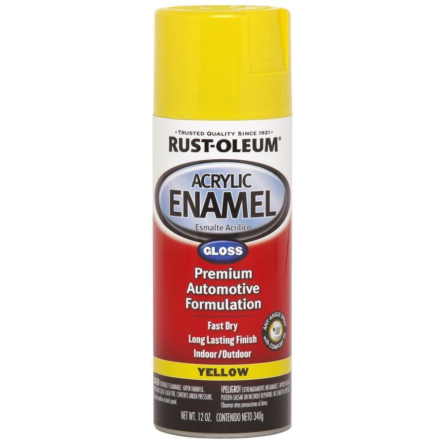 Rust-Oleum Automotive Yellow Enamel Spray Paint (Actual Net Contents: 12-oz)
