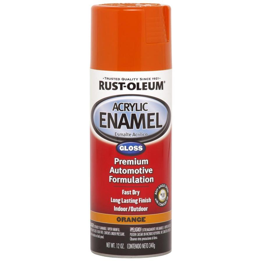 Rust-Oleum Automotive Orange Fade Resistant Enamel Spray Paint (Actual Net Contents: 12-oz)