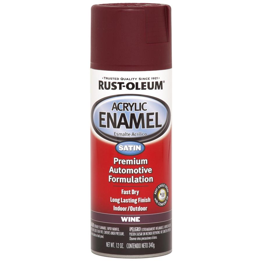 Rust-Oleum Automotive Wine Fade Resistant Enamel Spray Paint (Actual Net Contents: 12 Oz.)