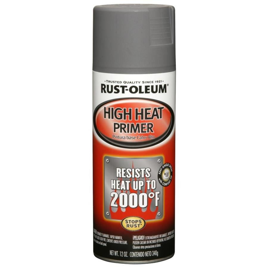 Shop Rust Oleum Automotive High Heat Gray Primer Spray Paint Actual Net Contents 12 Oz At