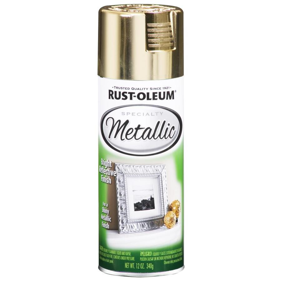 Shop Rust Oleum Specialty Gold Metallic Spray Paint Actual Net Contents 11 Oz At