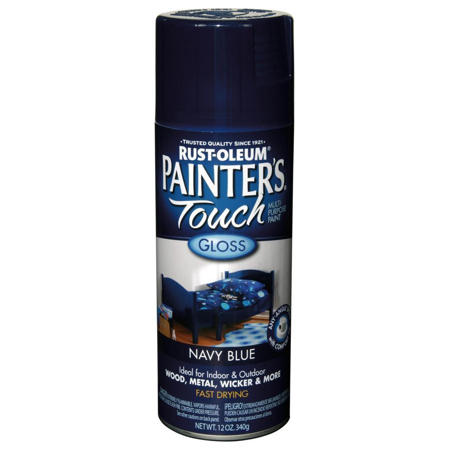 Rust-Oleum 12 Oz. Navy Blue Gloss Spray Paint