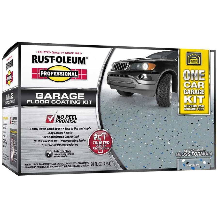 Rust-Oleum Professional High Performance 2-Part Gray Gloss Epoxy Garage Floor Epoxy (Actual Net Contents: 128-fl oz)