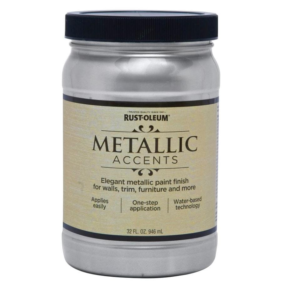 Rust-Oleum American Accents Sterling Silver Gloss Metallic Latex Interior Paint (Actual Net Contents: 32-fl oz)