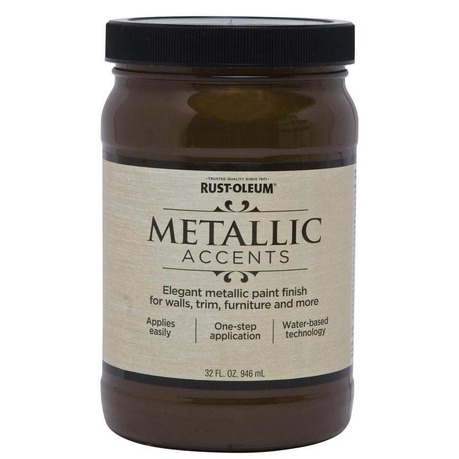 Rust-Oleum American Accents Classic Bronze Gloss Metallic Latex Interior Paint (Actual Net Contents: 32-fl oz)