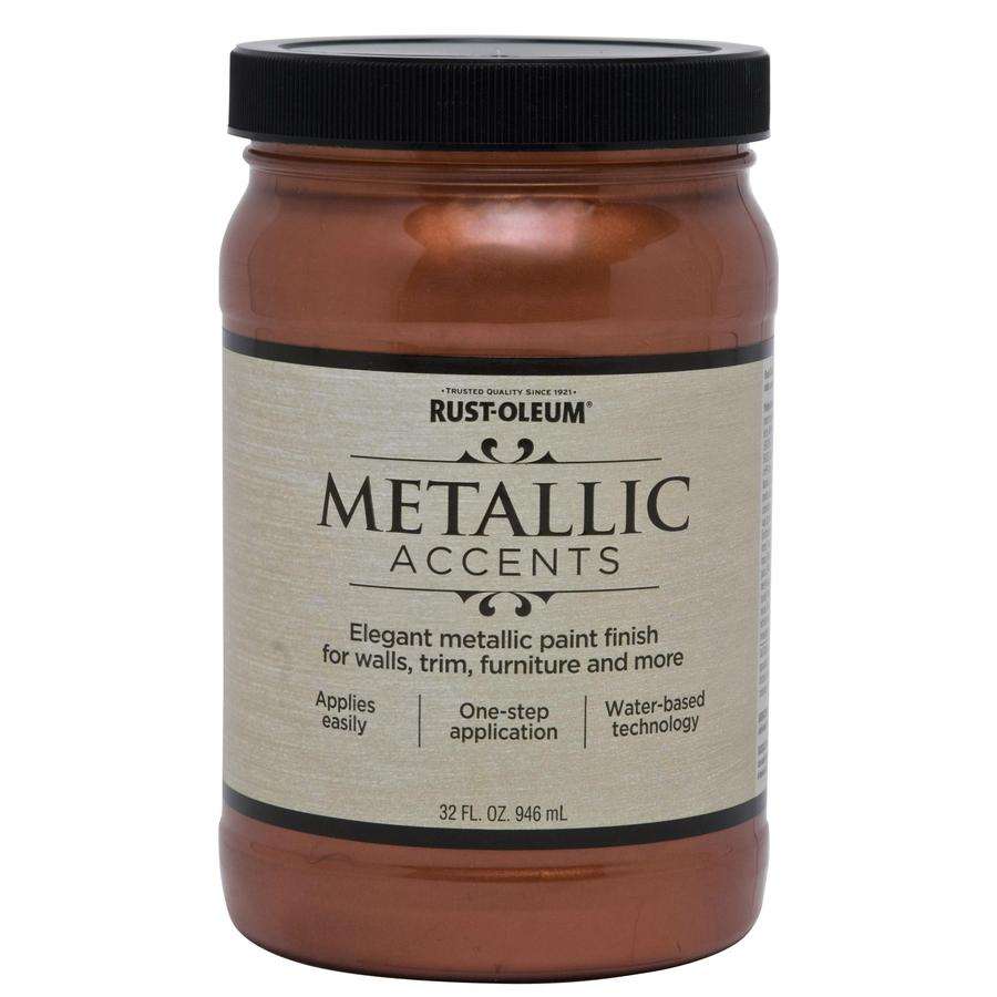 Shop Rust Oleum Metallic Accents Copper Penny Metallic Gloss Metallic Latex Interior Paint