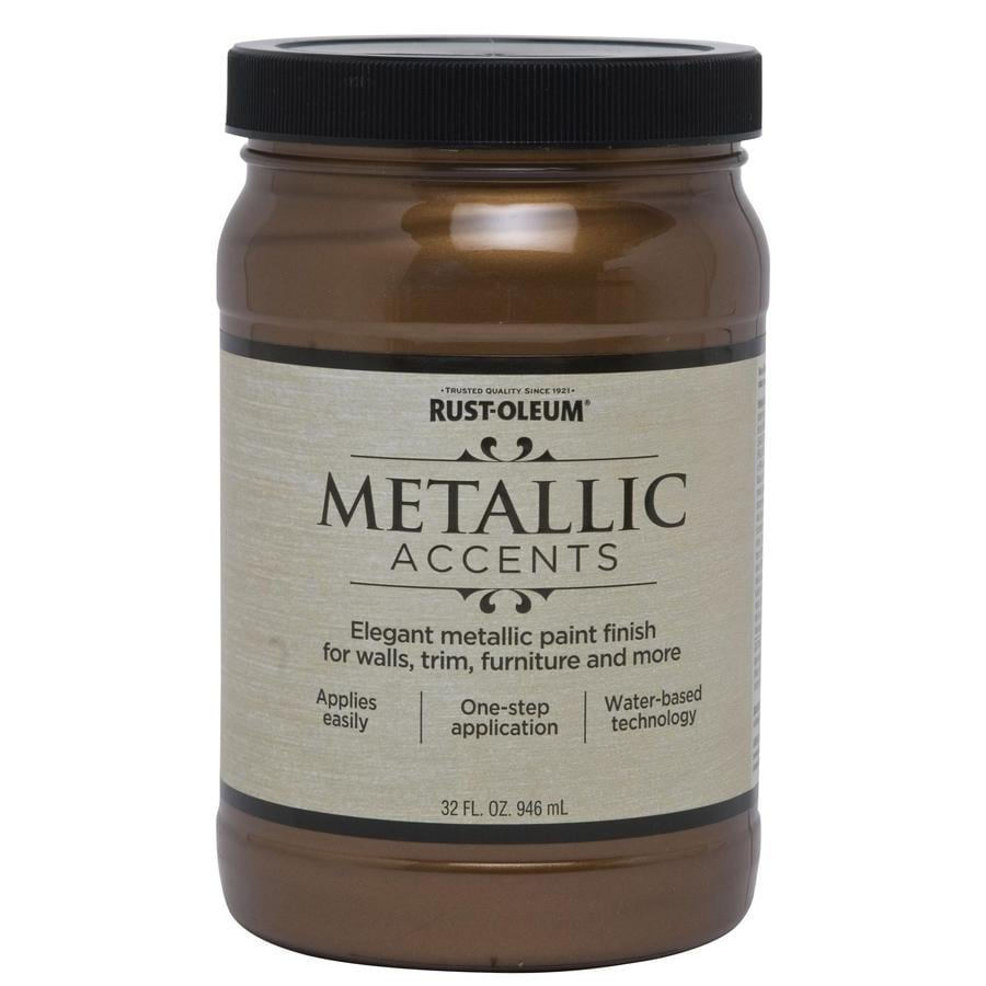 Shop Rust Oleum Metallic Accents Bronze Metal Metallic Gloss Metallic Latex Interior Paint