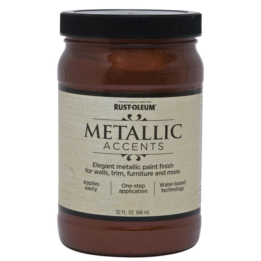 Rust Oleum Metallic Accents Warm Copper Metallic Gloss Metallic Latex Interior  Paint (Actual Net