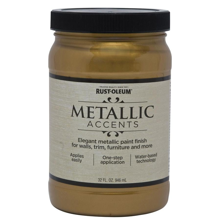 Rust-Oleum American Accents Gold Mine Gloss Metallic Latex Interior Paint (Actual Net Contents: 32-fl oz)