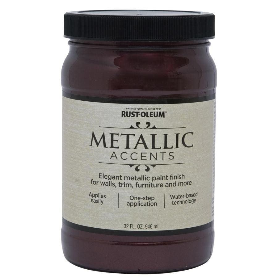 Rust-Oleum American Accents Black Garnet Gloss Metallic Latex Interior Paint (Actual Net Contents: 32-fl oz)