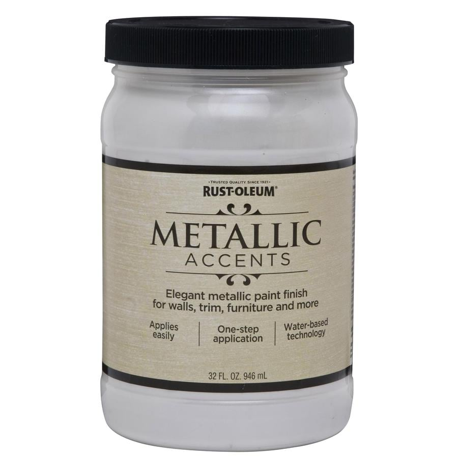 Shop Rust Oleum Metallic Accents White Pearl Metallic