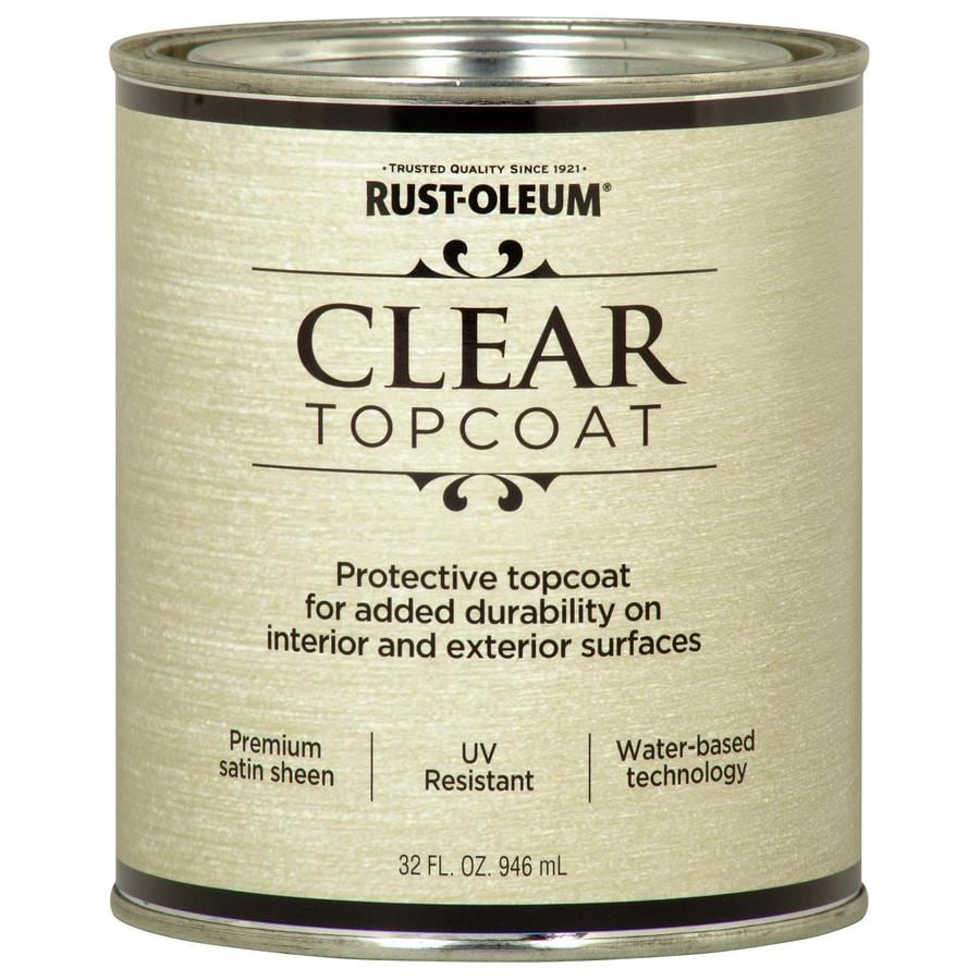 Rust Oleum Metallic Accents Gloss Clear Latex Paint Actual Net Contents 32 Fl Oz