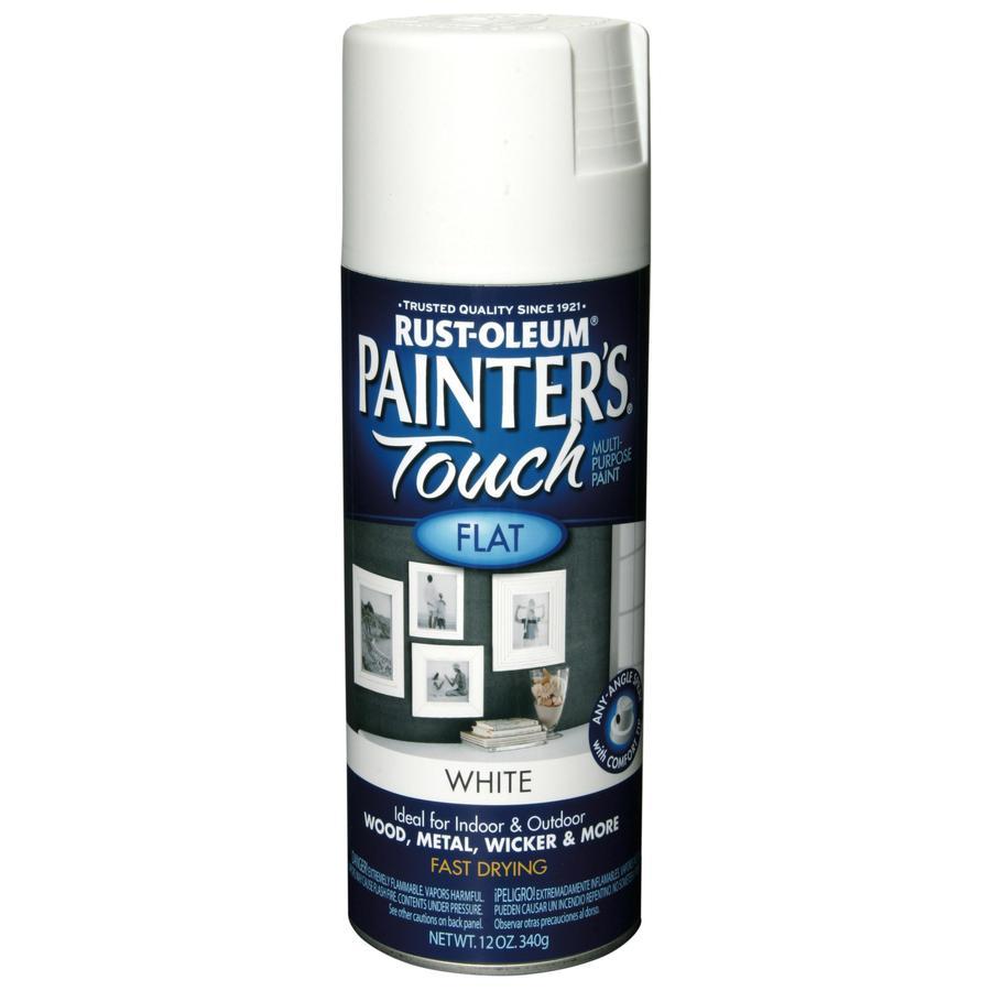 Rust-Oleum 12 Oz. White Flat Spray Paint