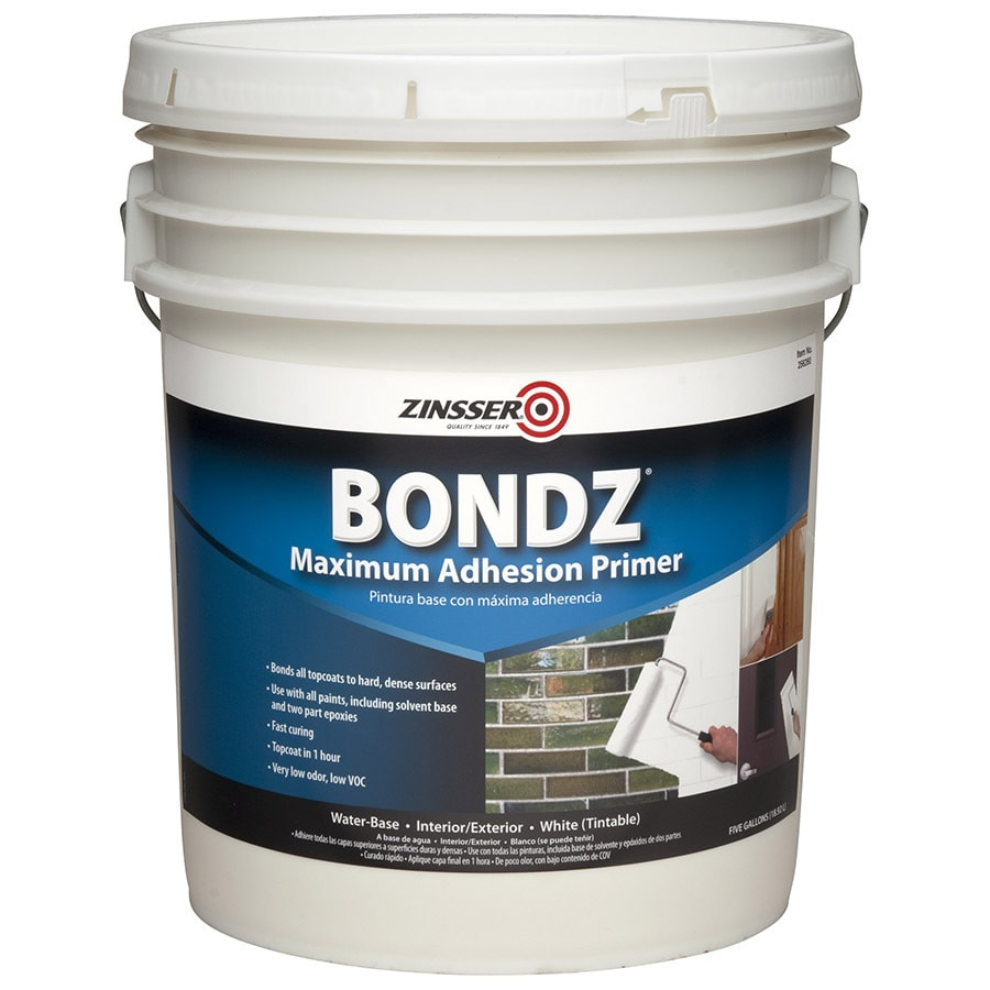 Shop Zinsser Bondz Interior Exterior Latex Primer Actual Net Contents 640 Fl Oz At