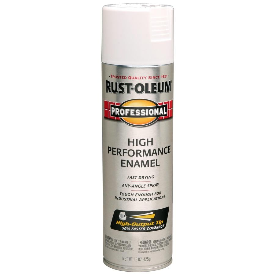 Rust-Oleum Professional White Rust Resistant Enamel Spray Paint (Actual Net Contents: 15-oz)