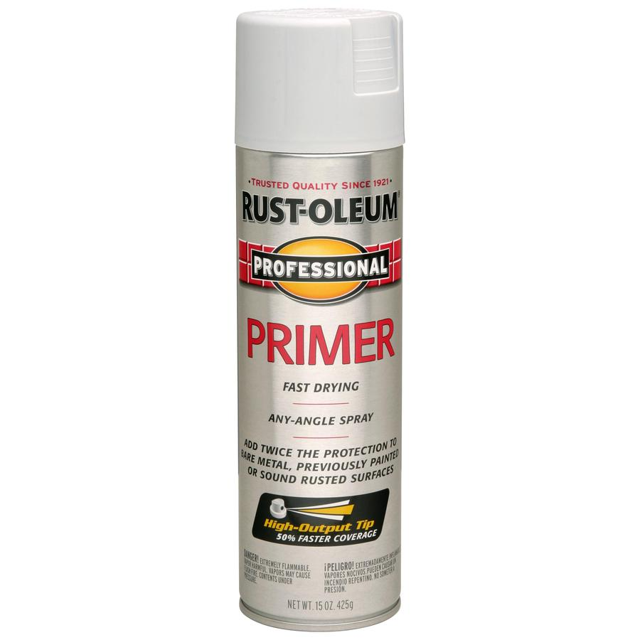 Shop Rust Oleum Professional Gray Primer Spray Paint Actual Net Contents 15 Oz At