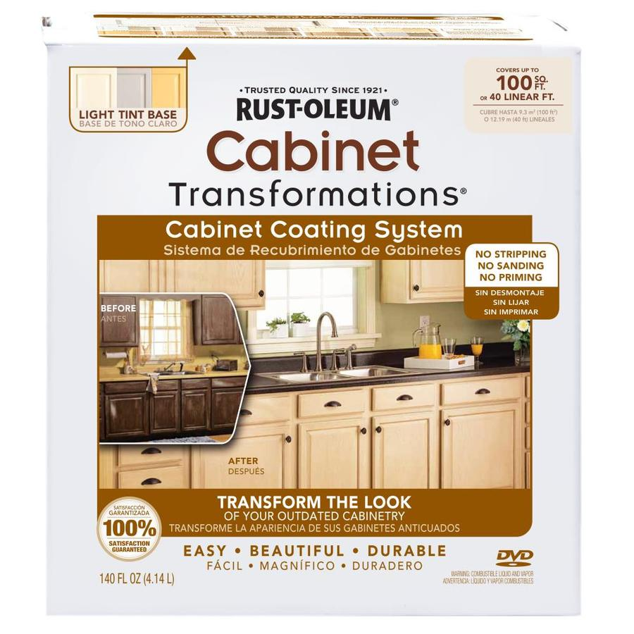 rustoleum kitchen cabinet transformation kit shop rust oleum cabinet transformations light base satin 7851