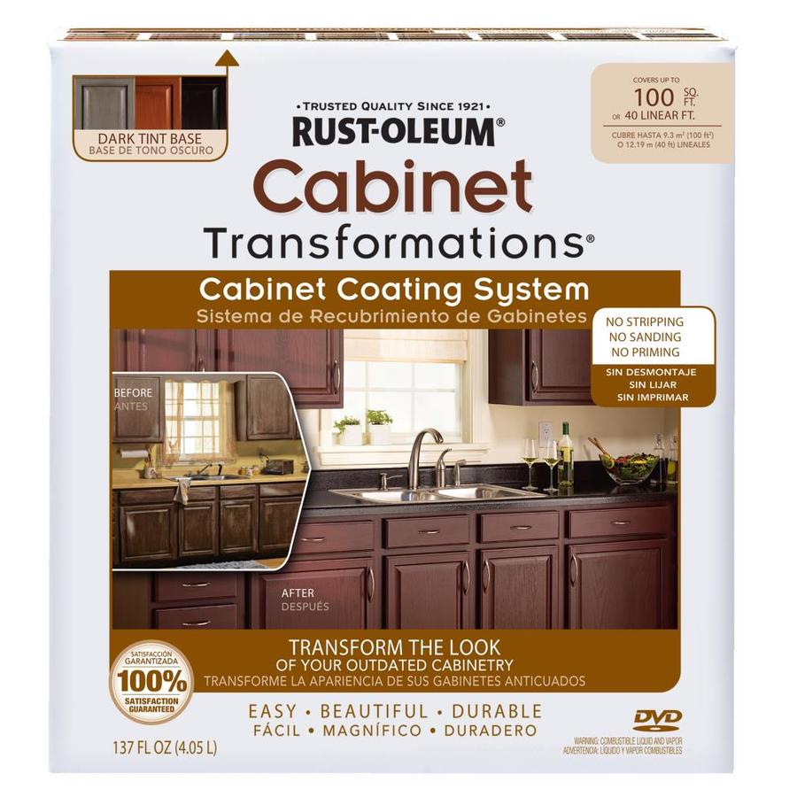 Rust Oleum Cabinet Transformations Dark Base Satin Resurfacing Kit Actual Net Contents