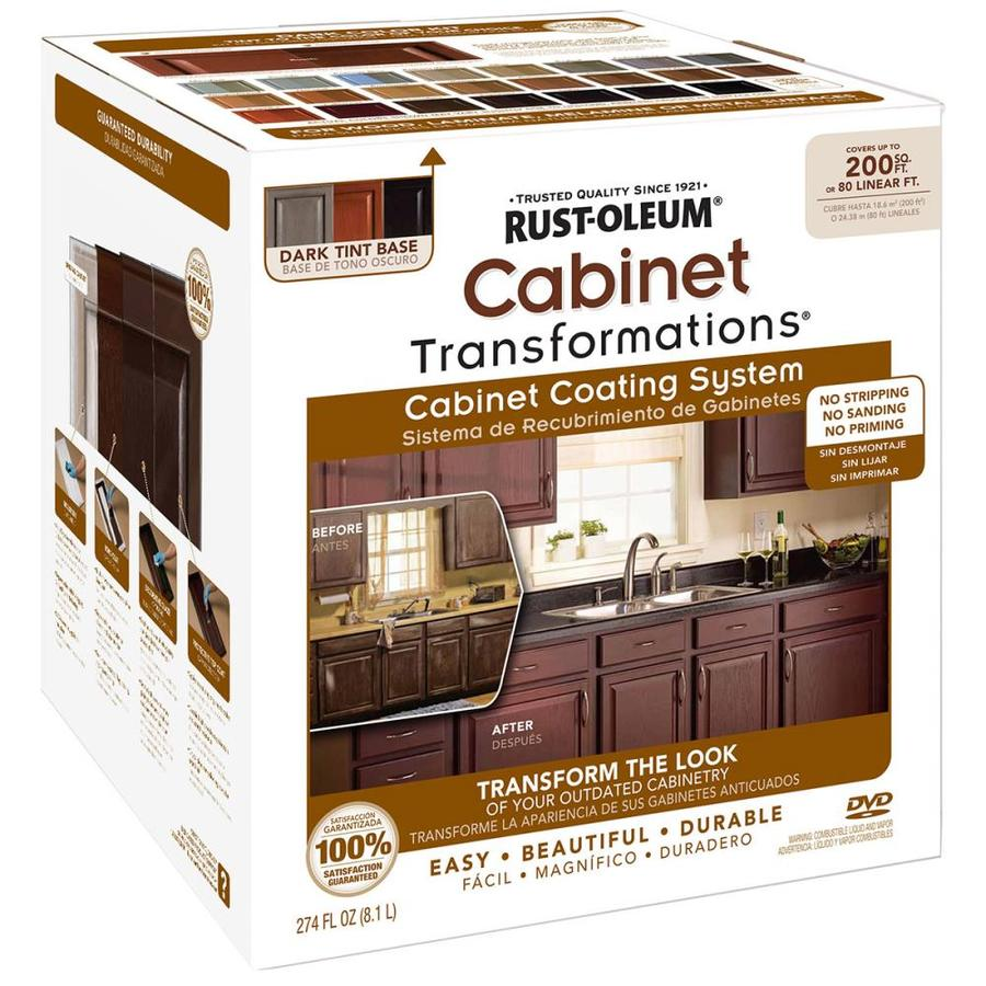 Ordinaire Rust Oleum Cabinet Transformations Dark Base Satin Cabinet Resurfacing Kit  (Actual Net Contents: