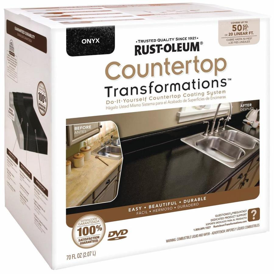 Rust-Oleum Countertop Transformations Onyx Semi-Gloss Countertop Resurfacing Kit (Actual Net Contents: 70-fl oz)