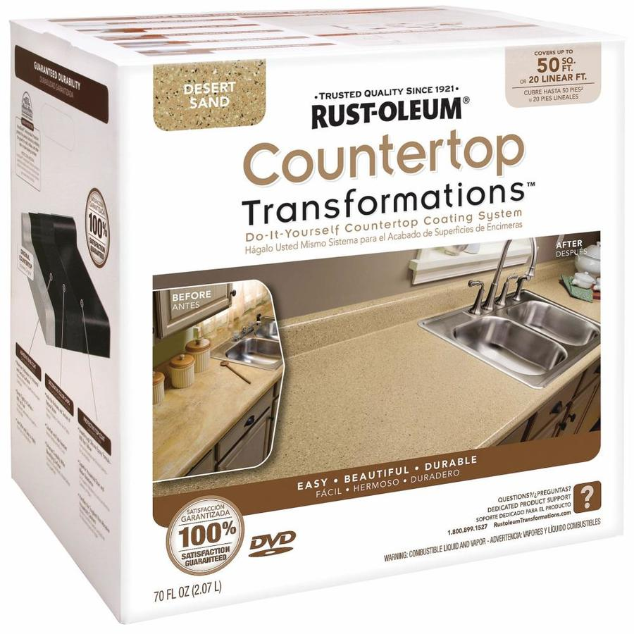 Rust Oleum Countertop Transformations Desert Sand Semi Gloss Resurfacing Kit Actual Net Contents 70 Fl Oz