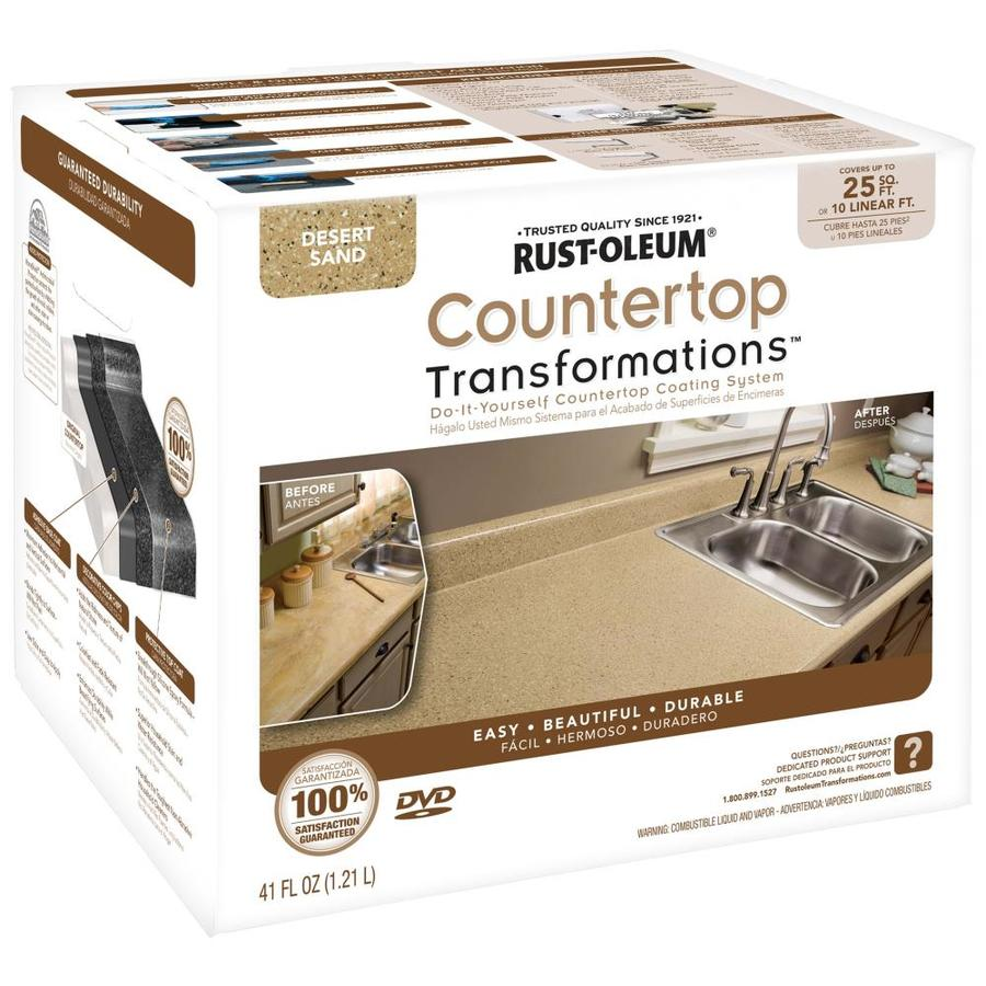 Shop Rust-Oleum Desert Sand Semi-gloss Countertop Resurfacing Kit ...