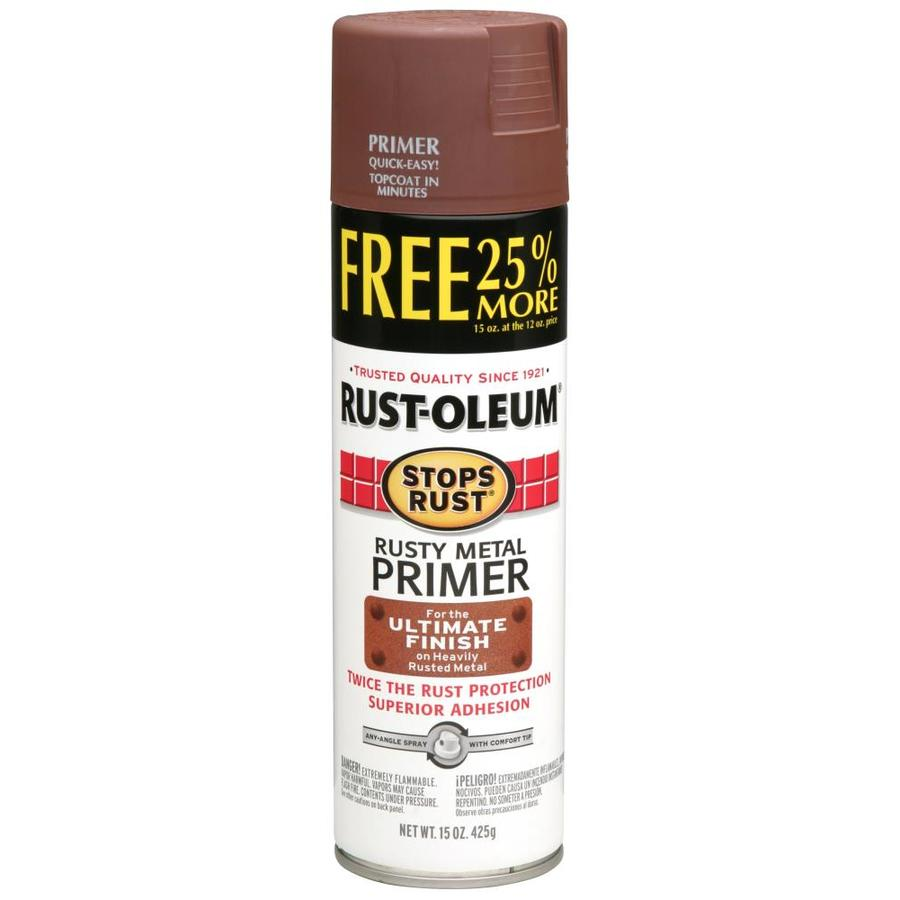 Shop Rust Oleum Stops Rust Rusty Metal Primer Rust Preventative Spray Paint Actual Net Contents