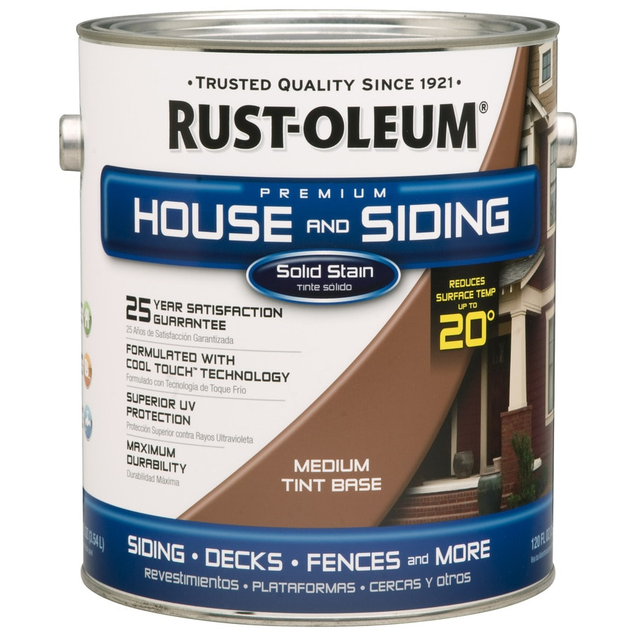 Rust-Oleum Solid Exterior Stain (Actual Net Contents: 128-fl oz)
