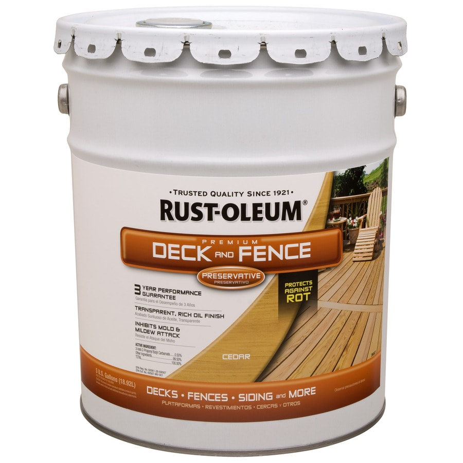 Rust Oleum 5 Gallon Exterior Flat Cedar Water Base Paint And Primer In