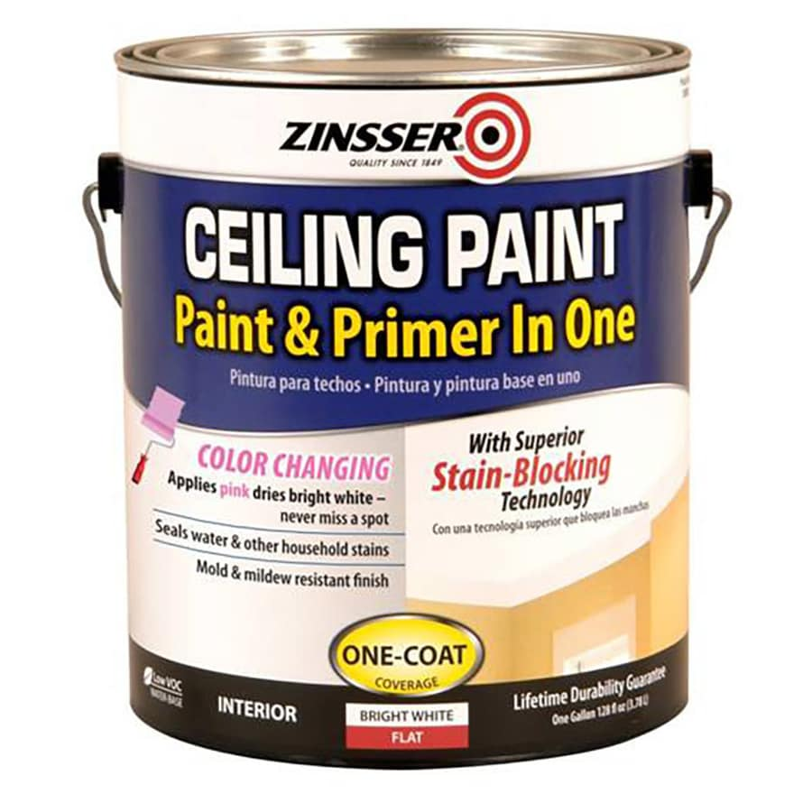 Zinsser Ceiling Bright White Flat Water-based Enamel Interior Paint and Primer in One (Actual Net Contents: 128-fl oz)