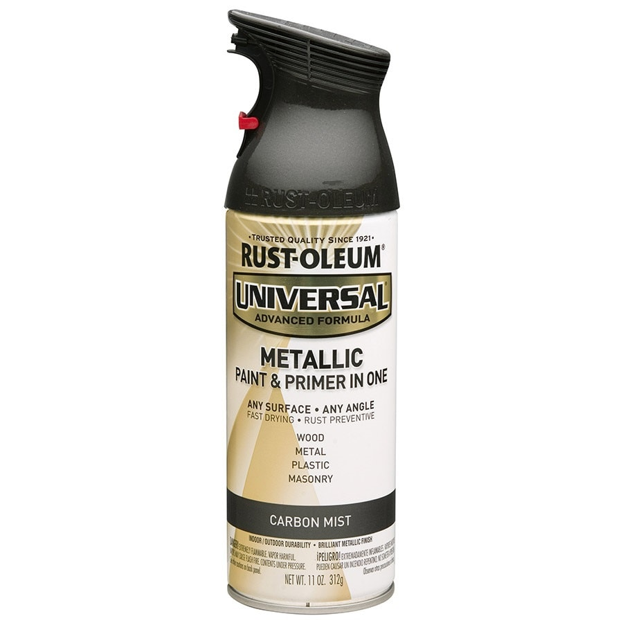 Shop Rust Oleum Universal Carbon Mist Metallic Enamel Spray Paint Actual Net Contents 11 Oz