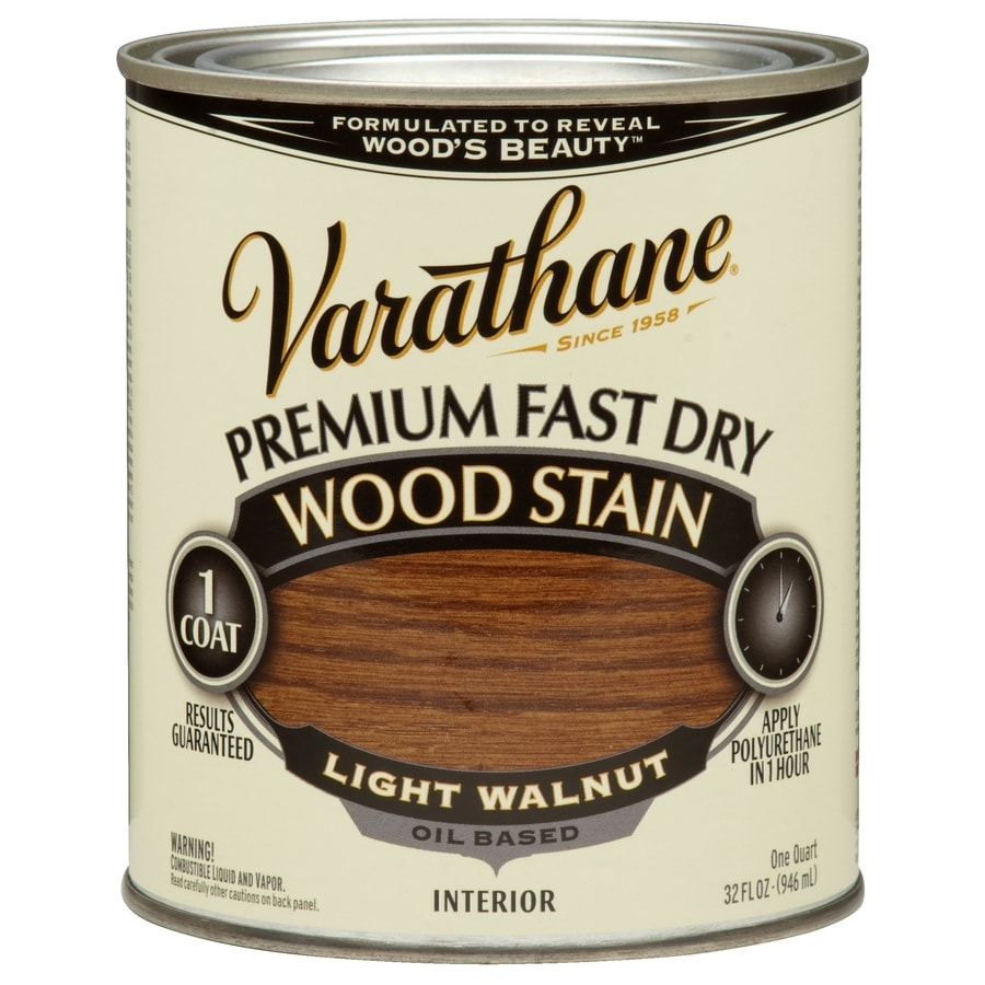 Varathane Premium Fast Dry LIGHT WALNUT Interior Stain (Actual Net Contents: 32-fl oz)
