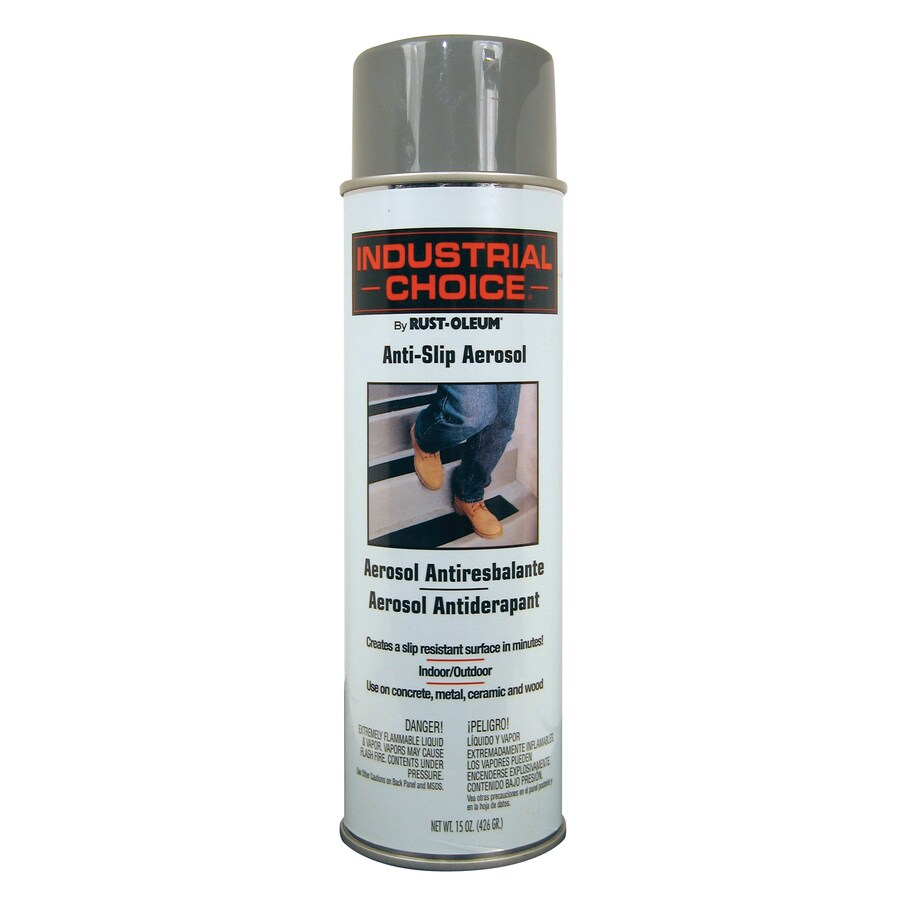 Shop Rust Oleum Industrial Choice Anti Slip Gray Fade Resistant Spray Paint Actual Net Contents