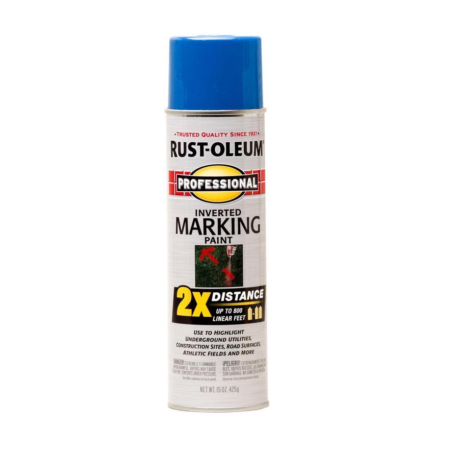 Rust-Oleum Professional 6-Pack Caution Blue Oil-based Marking Paint (Actual Net Contents: 15-fl oz)
