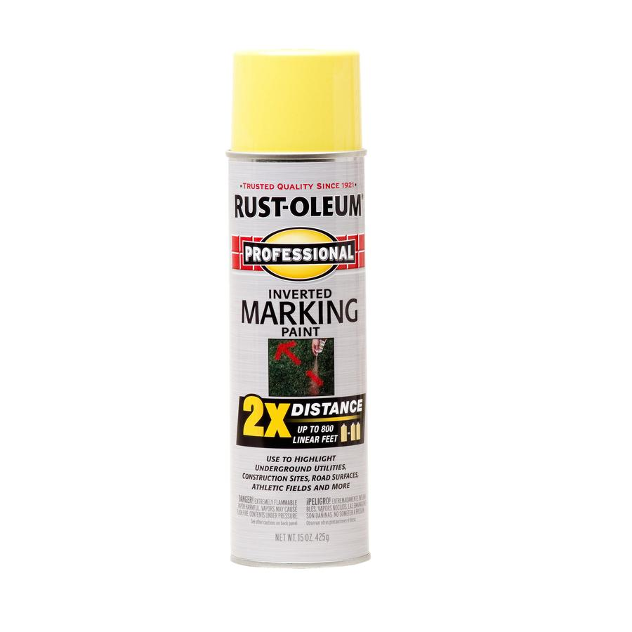 Rust-Oleum Professional Marking High Visibility Yellow Fade Resistant Spray Paint (Actual Net Contents: 15-oz)