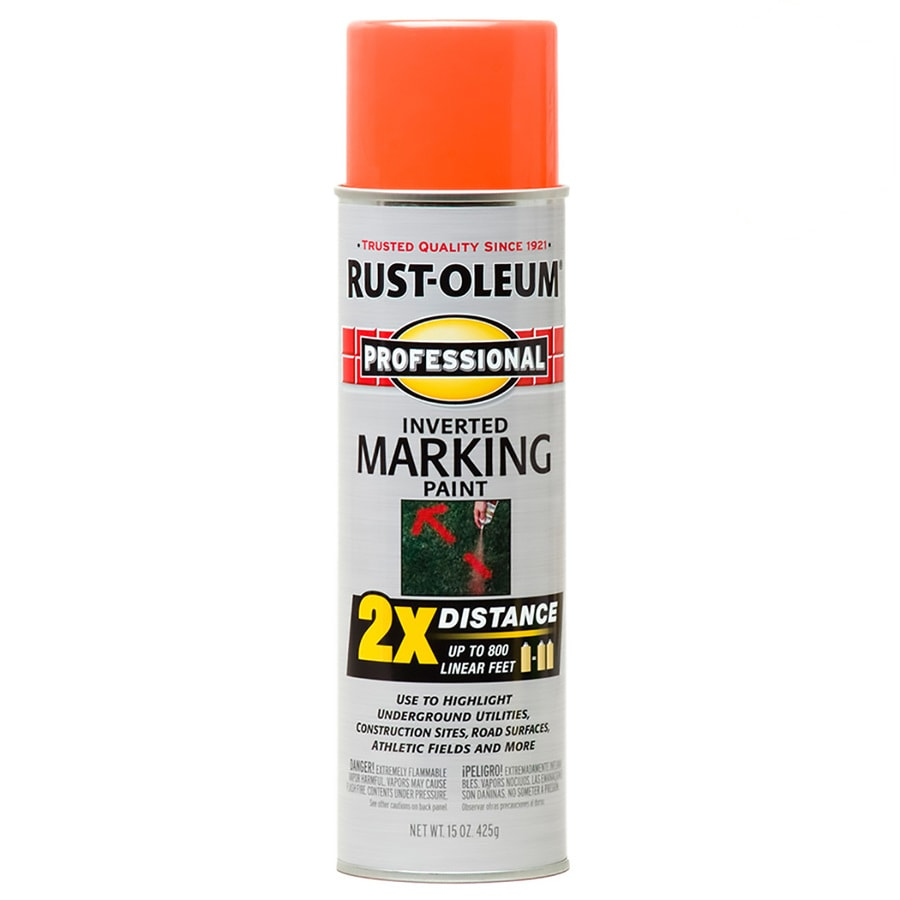 Rust-Oleum Professional 6-Pack Orange Oil-Based Marking Paint (Actual Net Contents: 15-fl oz)