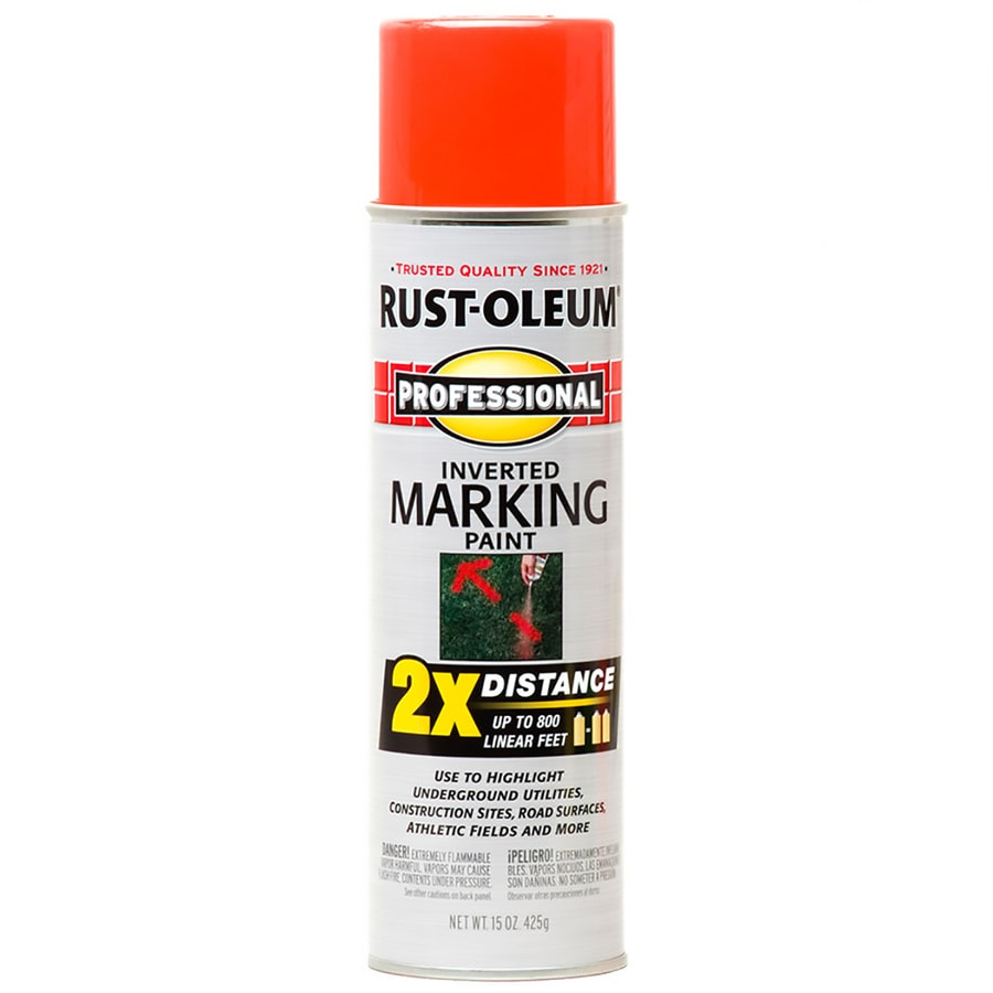 Rust-Oleum Professional 6-Pack Red-Orange Oil-Based Marking Paint (Actual Net Contents: 15-fl oz)