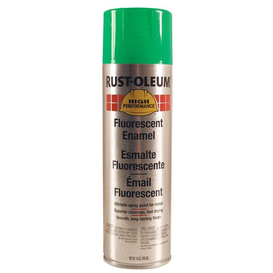 Rust-Oleum High Performance Green Fluorescent Fade Resistant Enamel Spray Paint (Actual Net Contents: 14-oz)