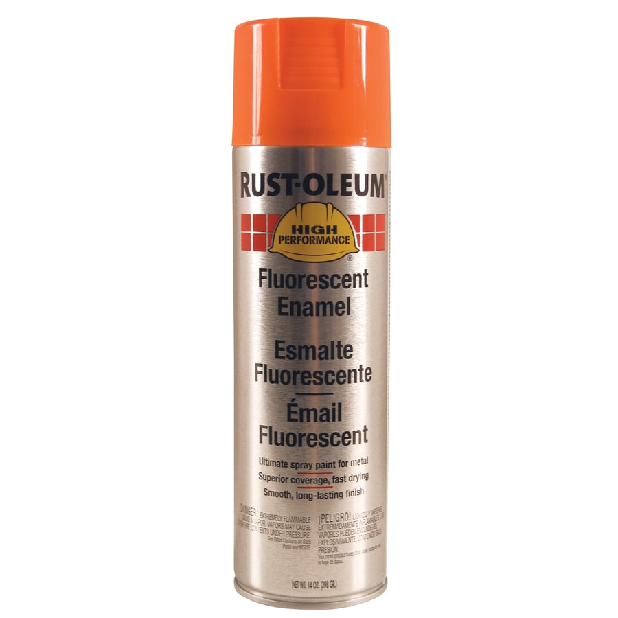 Rust-Oleum High Performance Orange Fluorescent Fade Resistant Enamel Spray Paint (Actual Net Contents: 14-oz)